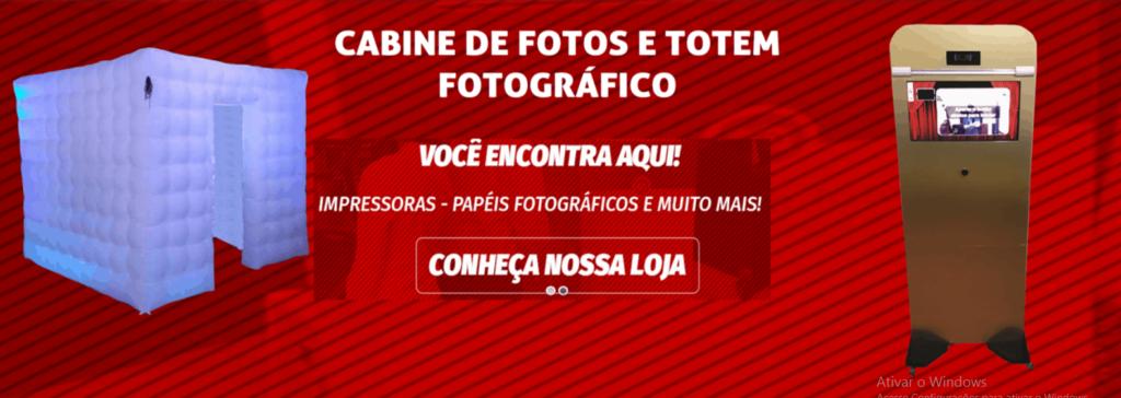 cabine de fotos e totem fotografico
